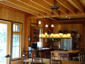 photo of beam work inside home