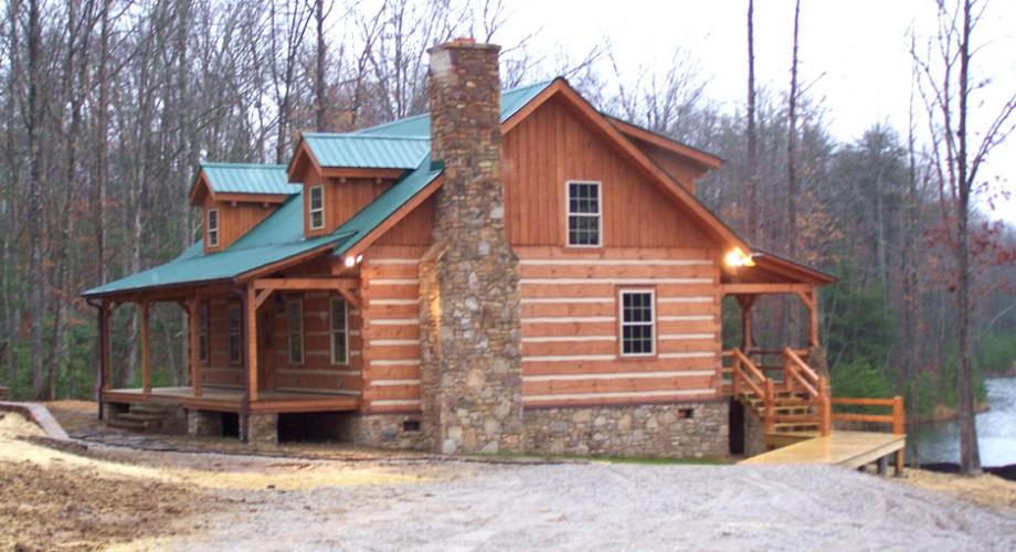 photo of log home