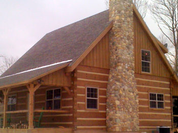 photo of a log home