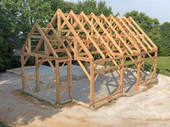 photo of framed barn