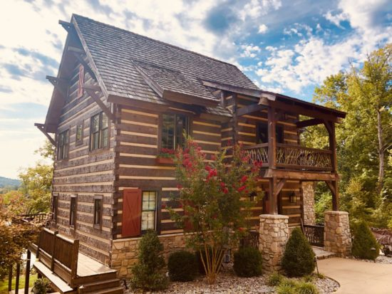 photo of custom log home